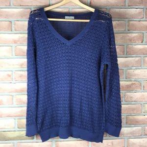 Loft size XL navy blue, loose knit sweater